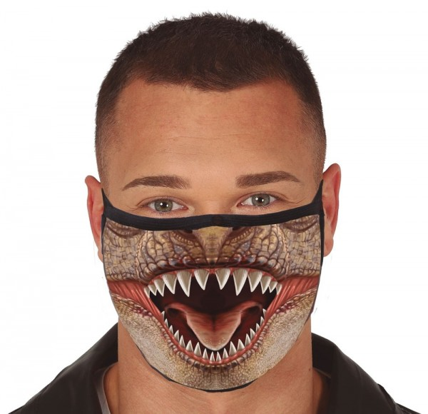 Reptilien Mund-Nase-Maske