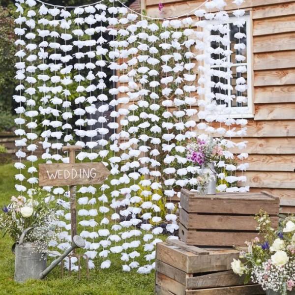 Landliebe Hochzeit Blütenvorhang 1,8 x 2m