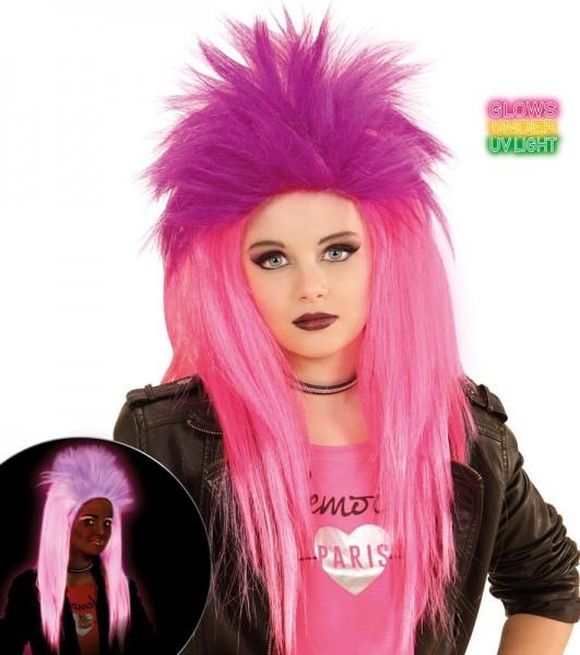Fetzige Neon Punk Perücke