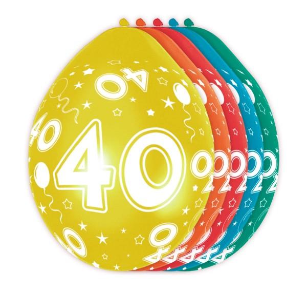 5 big 40 balloons 30cm