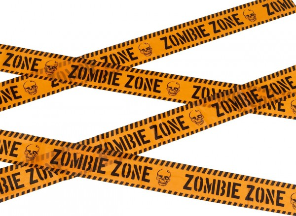 Nastro segnsletico Zombie Zone 600cm