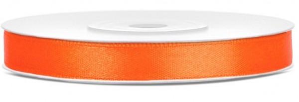 25m Satin Geschenkband orange 6mm breit