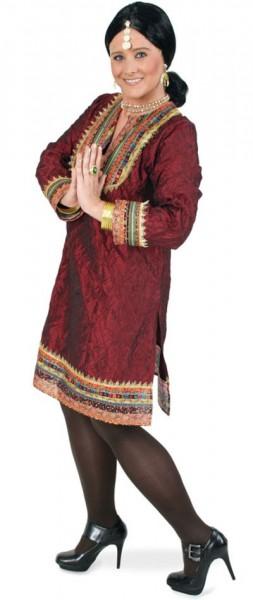 Rotes Bollywood Kleid Nara
