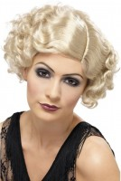 Blonde 20er Jahre Flapper Diva Perücke