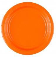 8 Pappteller Partytime Orange 17,7cm
