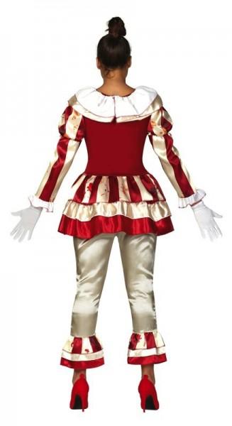 Horror circus clown kostuum voor dames