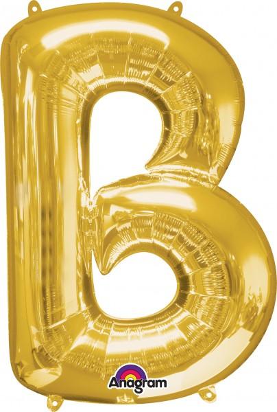 Letter foil balloon B gold 86cm