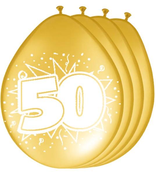 8 Goldene 50 Jahre Ballons 1