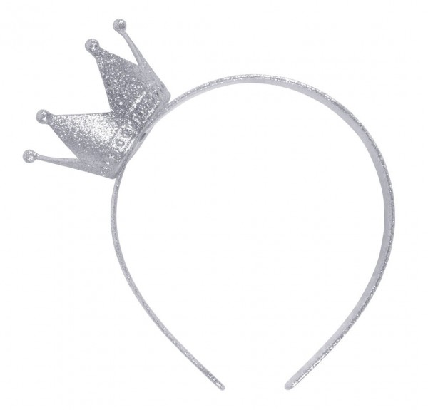 Silver crown headband