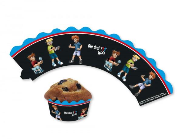 12 Trzy znaki zapytania Kids Muffin Banderoles