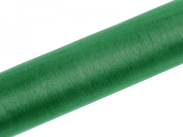 Organza Stoff Julie dunkelgrün 9m x 16cm