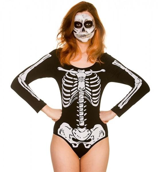 Body disfraz de esqueleto