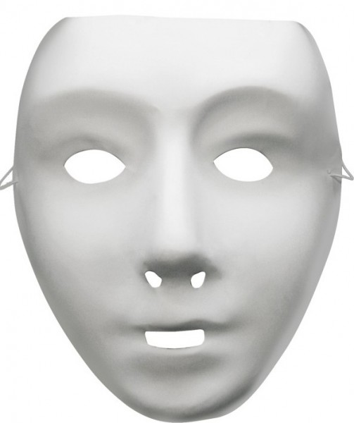 Robot Mask Adult White