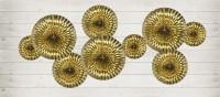 3 Metallic Rosetten Marielle gold