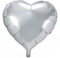Herz Folienballon silber 61cm