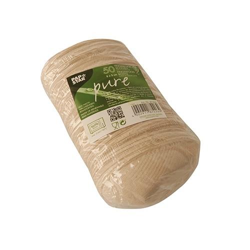 50 Ovale Zuckerrohr Fingerfood Schalen natur