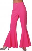 70er Jahre Schlaghose Neon Pink