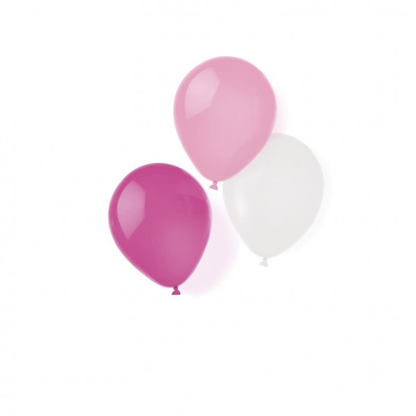 8 latex balloons pink dreams 25.4cm