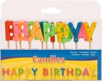 Happy Birthday Schriftzug Tortenkerzen