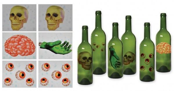 Halloween Glassticker 6 Stück