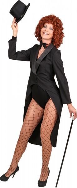 Elegant tailcoat for women in black