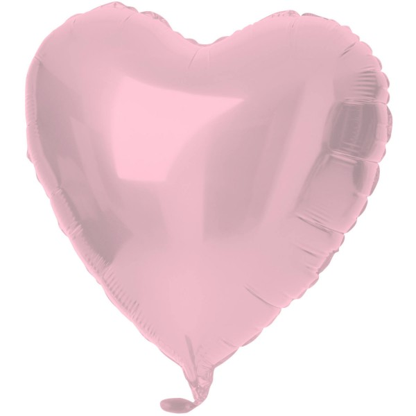Herz Folienballon Crystal rosa 45cm