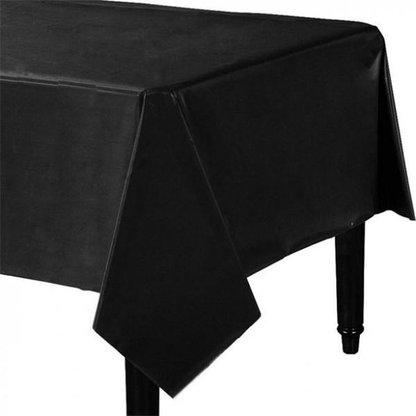Classic foil tablecloth black 137x247cm