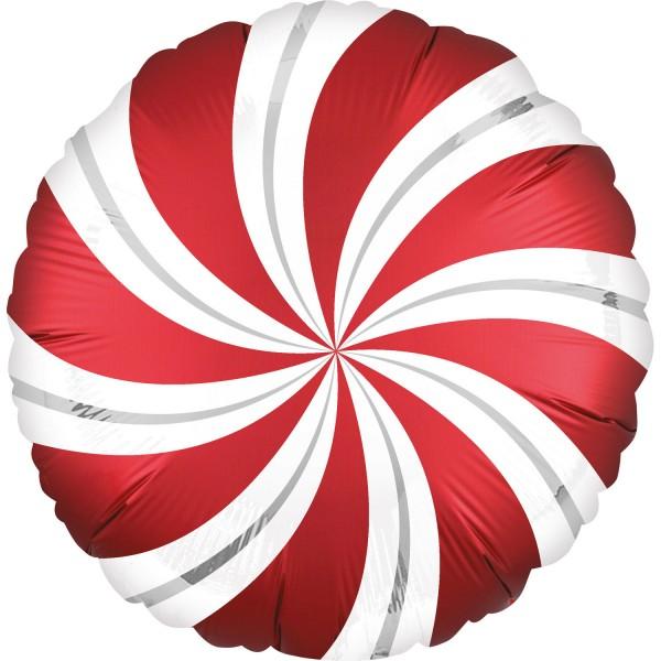 Ballon aluminium sucette rouge 45cm