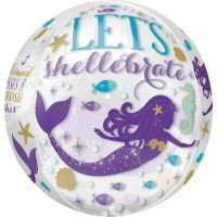 Shellebrate Meerjungfrau Orbz Ballon