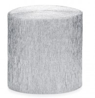10m Krepppapier silber 4-teilig