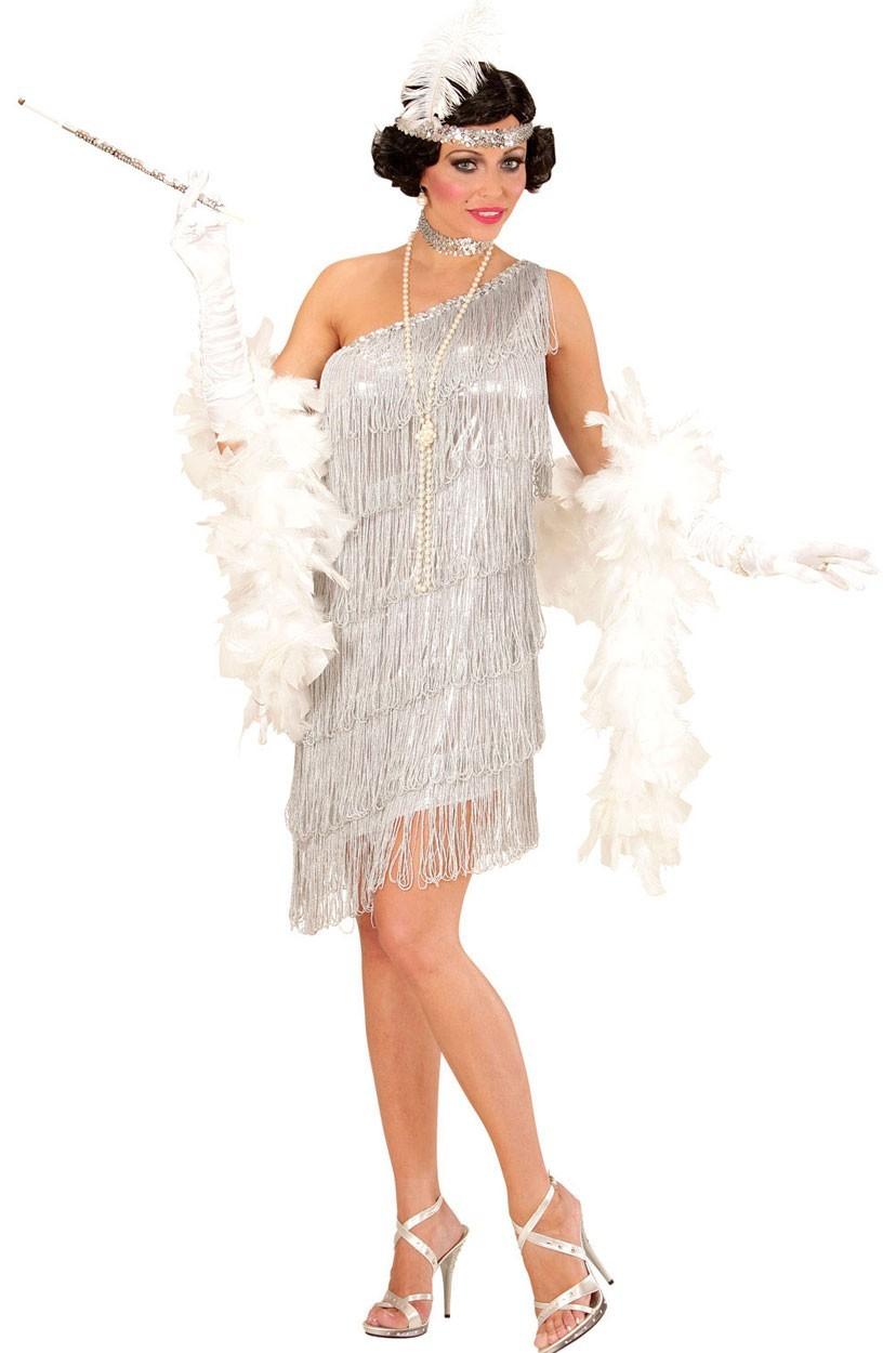 Silbernes Charleston Golden Twenties Kleid | Party.de