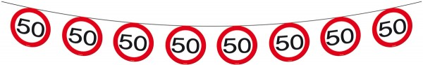 Traffic sign 50 pennant chain 12m