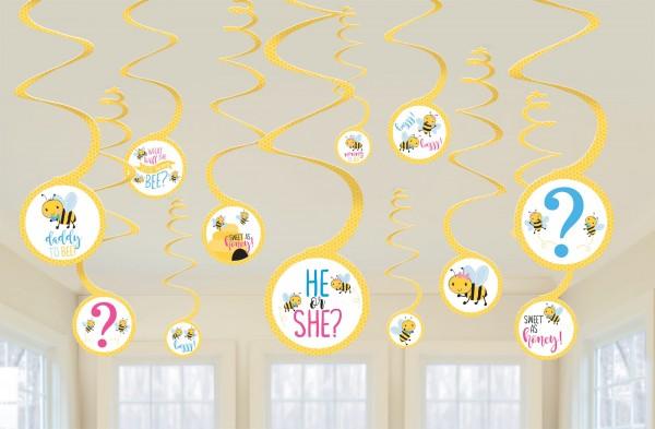 12 Bienen Baby Dekospiralen