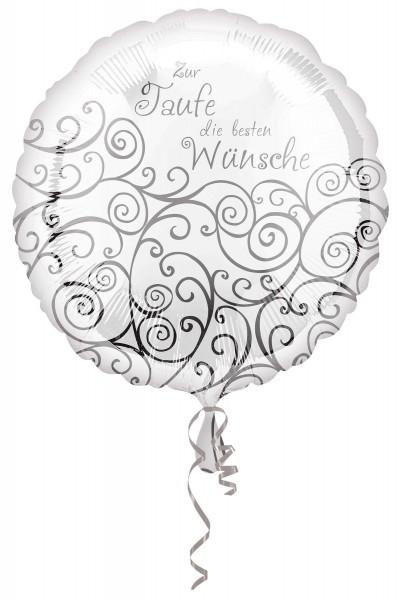 Folienballon Glückwünsche zur Taufe 43cm