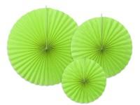 3 Papierrosetten Elenor apfelgrün