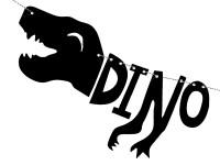 Vorschau: DIY Dino Island Saurier Girlande 90cm