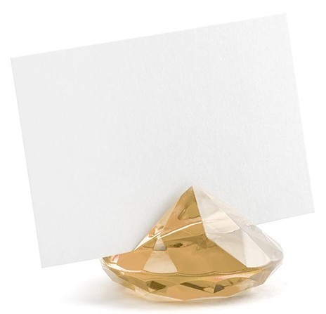10 diamonds card holder gold 4cm
