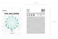 Candy Party Folienballon mint 45cm