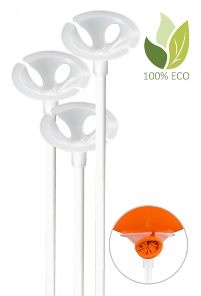 100 eco balloon sticks 23cm
