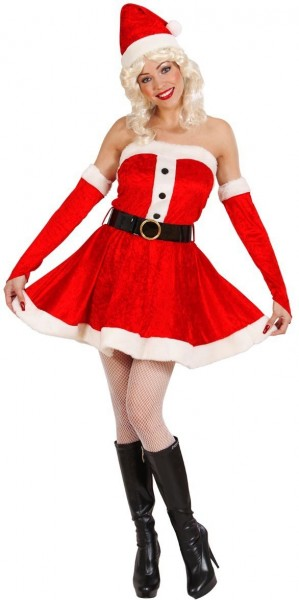 Weihnachtsfrau Samtkleid Sally