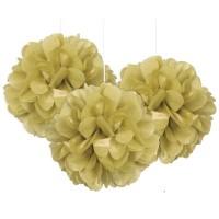 Fluffy Pompon Gold 23cm