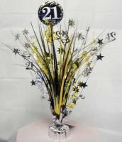 Golden 21st Birthday Tischfontäne 46cm