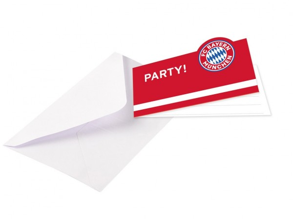 8 cartes d'invitation du FC Bayern Munich