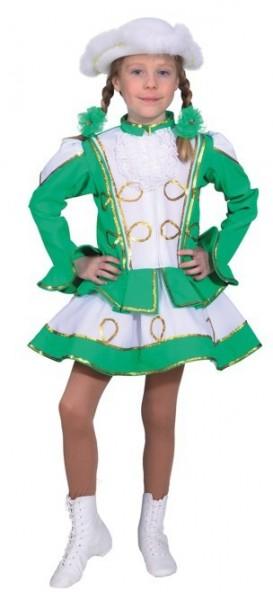 Grünes Funkenmariechen Kinderkostüm 1