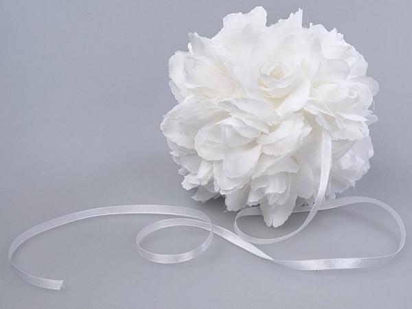 3 Blumenkugeln Weiß 1