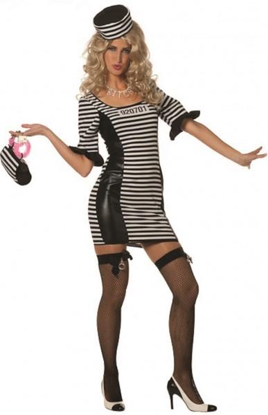 Sexy Sträflings Kostüm Für Damen