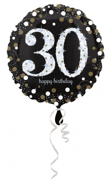 Golden 30th Birthday foil balloon 43cm