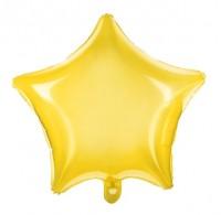 Transparenter Sternballon gelb 48cm