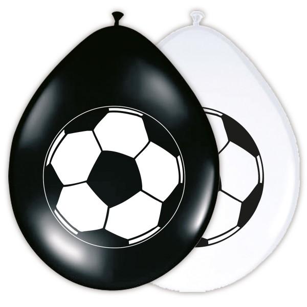8 Latexballons Fußball-Star