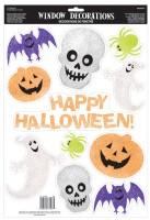 Halloweenparty glitzernde Fenstersticker 11-teilig